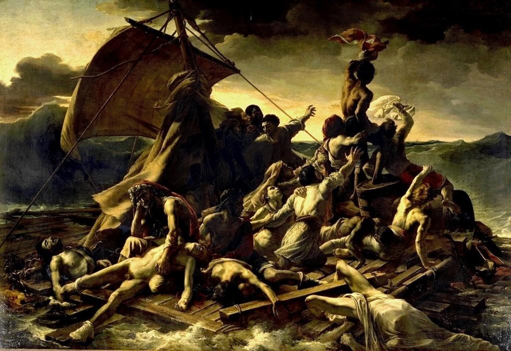 Теодор Жерико      Плот «Медузы», 1819        Холст, масло. 491×716 см        Лувр, Париж