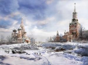 Москва-зима
